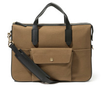 MS Briefcase Khaki/Black
