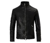 DUCATI Biker Leather Jacket Nero Gun