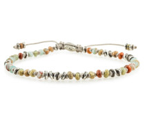 Templar Jointed Mini Gemstone Bracelet With Sterling Accents Opal