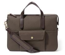 MS Briefcase Army/Dark Brown
