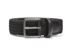 Elastic Braided Belt Black