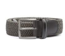 Elastic Braided Belt Grey Melange