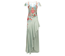Botanist Long Dress, Pale Lichen