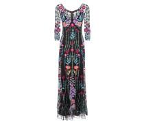 Woodland V-neck Dress,  Black Mix