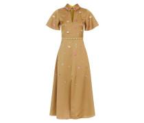 Saturn Collar Dress, Cider