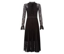 Eclipse Lace Collar Dress,  Black