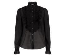 Strawberry Ruffle Shirt,  Black