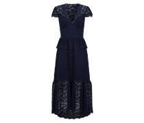 Lunar Lace V Neck Dress, Midnight