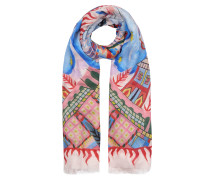 Village Acc Printed Scarf,  Sand Mix
