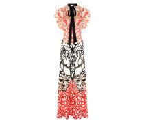 Blaze Printed Long Dress,  Black Mix
