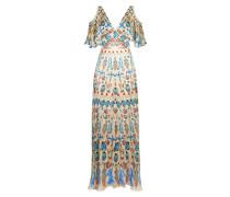 Quartz Printed Long Dress, Shell