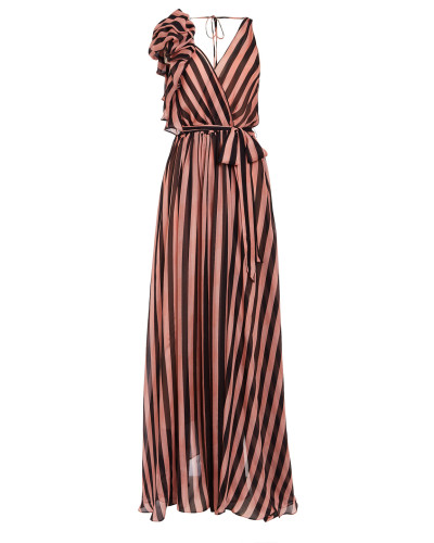 Linden Stripe V-Neck Dress