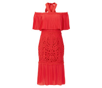 Berry Lace Cocktail Dress,  Coral