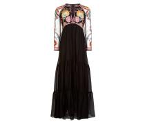 Chimera Tie Dress,  Black Mix