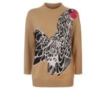 Bird Jacquard Knit Jumper,  Flax Mix