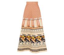Foxglove Printed Midi Skirt,  Rust Mix