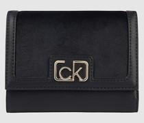 Dreifach faltbares Samt-Portemonnaie