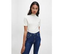 Slim T-Shirt mit Stehkragen