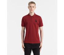 Tailliertes Baumwoll-Piqué-Poloshirt