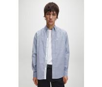 Schmales Chambray-Hemd mit Button-Down-Kragen