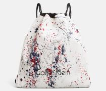 Flacher Rucksack im Farbspritzer-Design