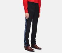 Hose mit Uniform-Streifen