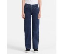 High-Rise Jeans mit weitem Bein