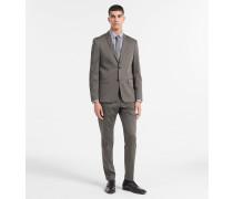Satin-Anzug aus Stretch-Baumwolle
