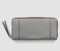 Großes Leder-Portemonnaie mit Rundum-Reißverschluss