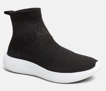 High Top Sneakers aus Strickgewirk