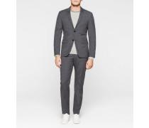 Taillierter Wollstruktur-Anzug