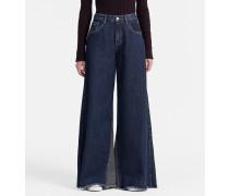 High-Rise Jeans mit extrem weitem Bein