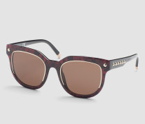 Rechteckige Sonnenbrille CK3202SS
