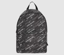 Runder Rucksack aus recyceltem Nylon