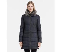 Taillierter gefütterter Mantel