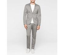Taillierter Slim Wollstruktur-Anzug