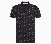 Slim Fit Poloshirt mit Allover Logo