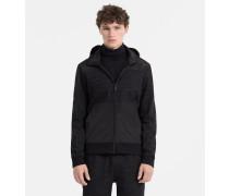Jacke aus Materialgemisch mit Reißverschluss