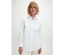 Lässiges Tunika-Hemd aus Popeline