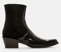 Western Ankle Boots aus Leder