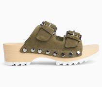 Clog-Sandalen aus Wildleder