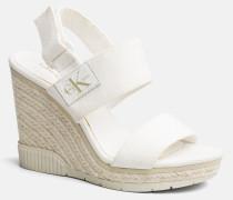 Sandalen aus Canvas mit Keilabsatz