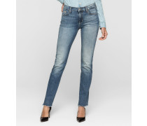 Mid-Rise Straight-Cropped-Jeans