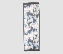 Schillernder Schal mit Blumenmuster