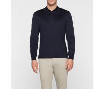 Tailliertes Langärmliges Poloshirt
