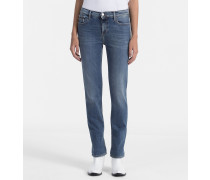 Mid-Rise Straight-Jeans