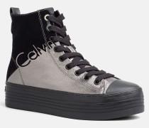 High Top Sneakers aus Metallic-Canvas
