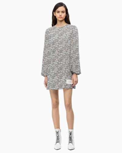 Kleid mit Puffärmeln und Print