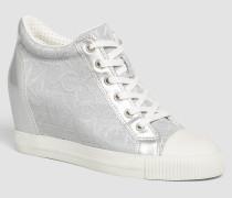 Sneakers aus Jacquard mit Metallic-Effekt