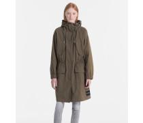 Parka-Mantel aus gepeachter Baumwolle